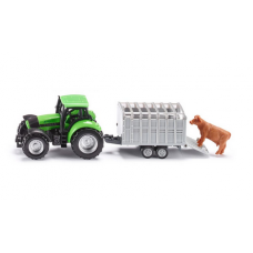 Models Siku  Tractor with Livestock Trailer  S1640