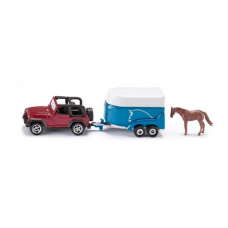 Models Siku  Jeep with Horse Trailer 1:87  S1651 Call for availability prior to ordering 057 9341734