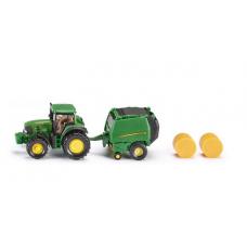 Models Siku   John Deere Tractor with Round Baler 1:87  S1665