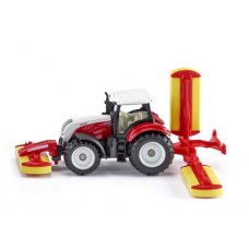 Models Siku   Steyr with Poettinger Mower Combination 1:87  S1672