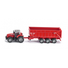 Models Siku Massey Ferguson Tractor with Trailer 1:87  S1844
